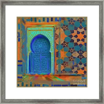 Moroccon Door Series Framed Print