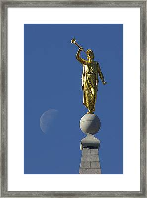 Moroni And The Moon Framed Print by David Andersen