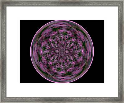Morphed Art Globe 28 Framed Print by Rhonda Barrett