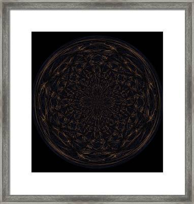 Morphed Art Globe 31 Framed Print