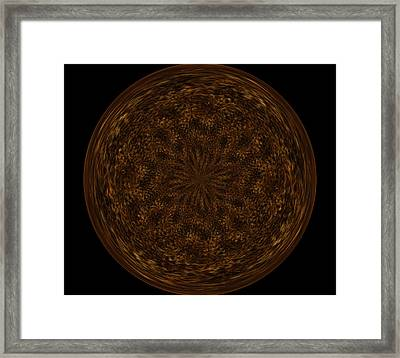 Morphed Art Globe 32 Framed Print by Rhonda Barrett