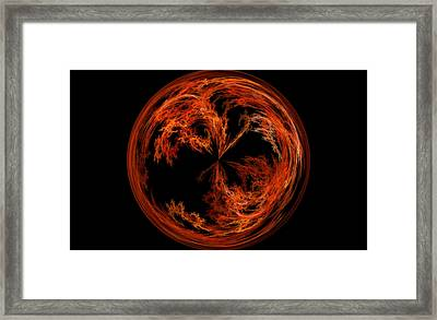 Morphed Art Globe 37 Framed Print by Rhonda Barrett