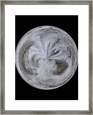 Morphed Art Globe 4 Framed Print by Rhonda Barrett