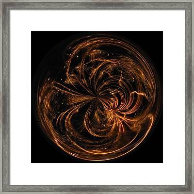 Morphed Art Globe 40 Framed Print by Rhonda Barrett