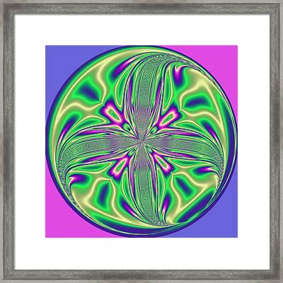Morphed Art Globe 43 Framed Print