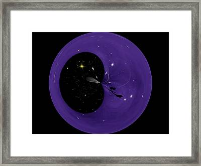 Morphed Art Globe 6 Framed Print by Rhonda Barrett