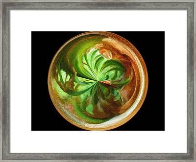 Morphed Art Globes 16 Framed Print