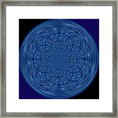 Morphed Art Globes 34 Framed Print by Rhonda Barrett