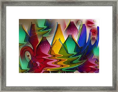 Morphed Glass Framed Print by Jill Brooks