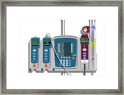 Morphine Delivery System Framed Print by Carol & Mike Werner