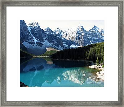 Moraine Lake Framed Print by Gerry Bates