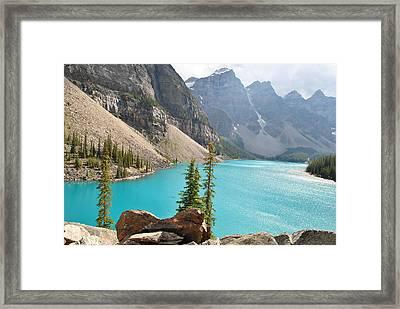 Morraine Lake Framed Print
