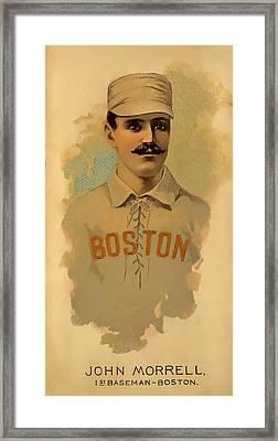 Morrell Vintage Baseball Framed Print
