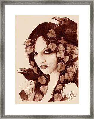 Morrigan Framed Print by Yuri Leitch