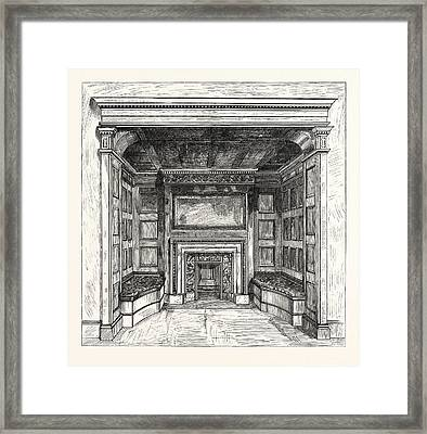 Morris And Co., Chimney Piece In The Ambassadors Room Framed Print by English School