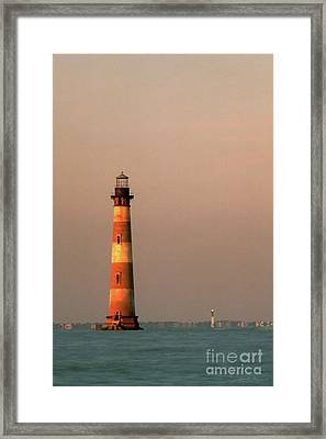 Morris Island  And Sulivan Island Lighthouses  Framed Print by John Harmon