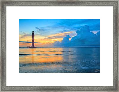 Morris Island Lighthouse Framed Print