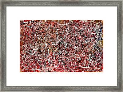 Framed Print featuring the painting Morris Louis Meets Jackson Pollock by Alexandra Jordankova