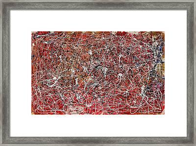 Morris Louis Meets Jackson Pollock Framed Print by Alexandra Jordankova