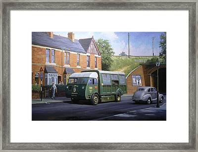Morrison Dustcart Framed Print by Mike  Jeffries