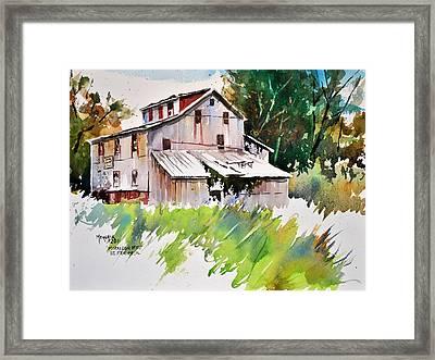Morrison Mill Burnt Prairie Illinois Framed Print