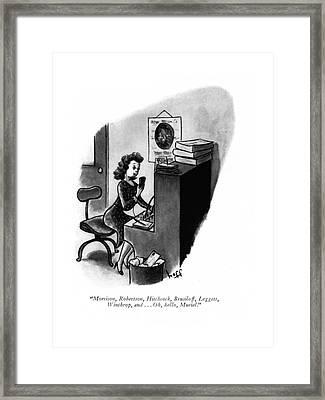 Morrison, Robertson, Hitchcock, Brusiloff Framed Print by Sydney Hoff