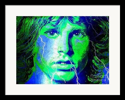 The Lightning Man Mixed Media Framed Prints