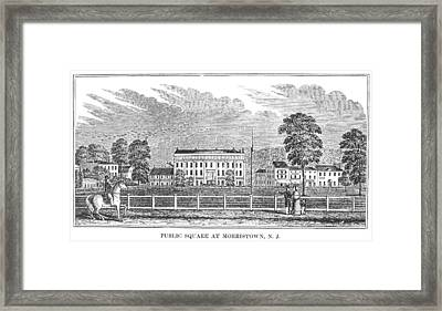 Framed Print featuring the painting Morristown, 1844 by Granger