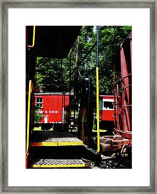Morristown And Erie Caboose Framed Print