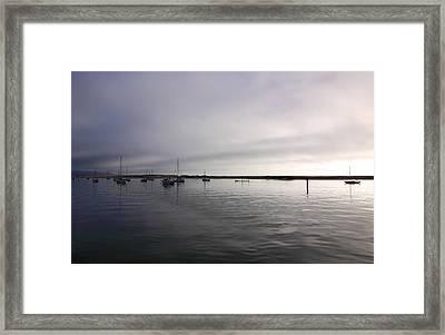 Morro Bay At Evening Framed Print