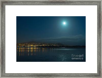 Morro Bay At Night Framed Print by Terry Garvin
