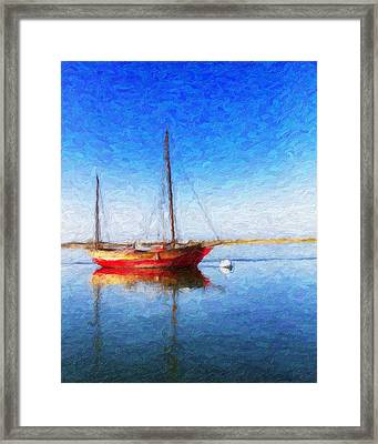 Morro Bay Blue Framed Print