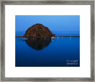 Morro Bay Calm Morning Framed Print by Terry Garvin
