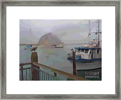 Morro Bay Morning Fog Framed Print by Robert Wek