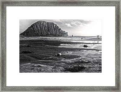 Morro Bay - Morro Rock - Desaturated Framed Print by Gregory Dyer