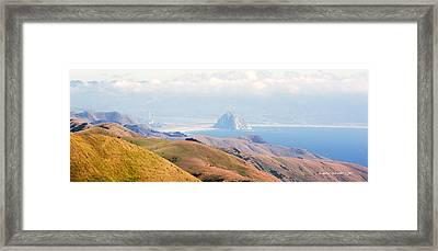 Morro Bay Rock Vista Overlooking Highway 46 Paso Robles California Framed Print by Artist and Photographer Laura Wrede