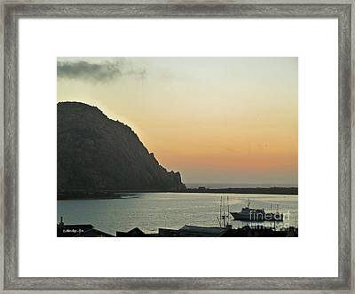 Morro Bay Sunset Framed Print by Methune Hively