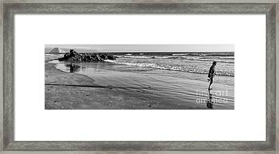 Morro Beach Walk Framed Print