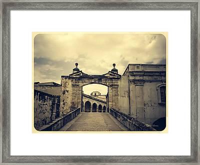 Morro Castle San Juan Framed Print by Julie Palencia