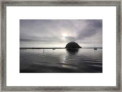 Morro Rock After Sunset Framed Print