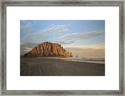 Morro Rock At Dawn Framed Print