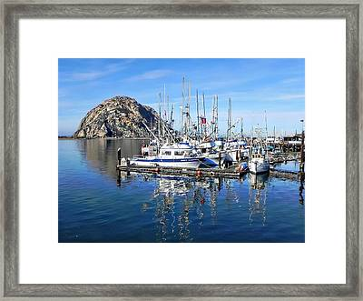 Framed Print featuring the photograph Morro Rock by Kathy Churchman