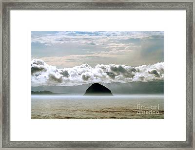 Framed Print featuring the photograph Morro Rock Morning by Michael Rock