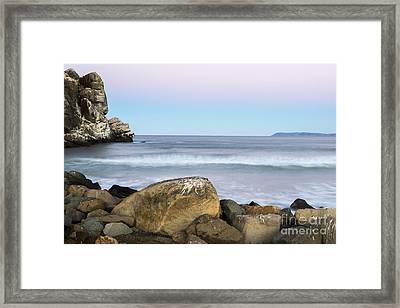 Morro Rock Morning Framed Print by Terry Garvin