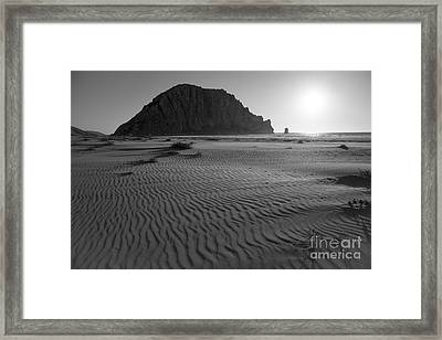 Morro Rock Silhouette Framed Print by Terry Garvin