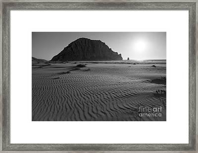 Morro Rock Silhouette Framed Print