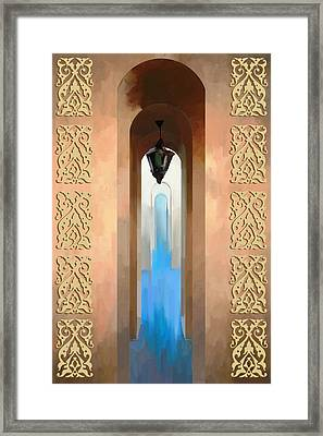 Morrocan Arch Framed Print