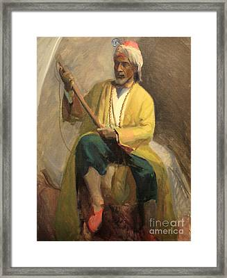 Morrocan Musician 1929 Framed Print by Art By Tolpo Collection