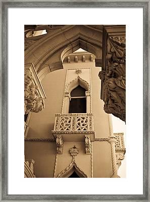 Morrocan Window And Archway Framed Print by Douglas Barnett