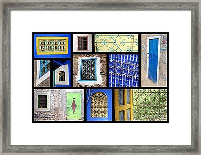 Moroccan Windows Framed Print by Delphimages Photo Creations